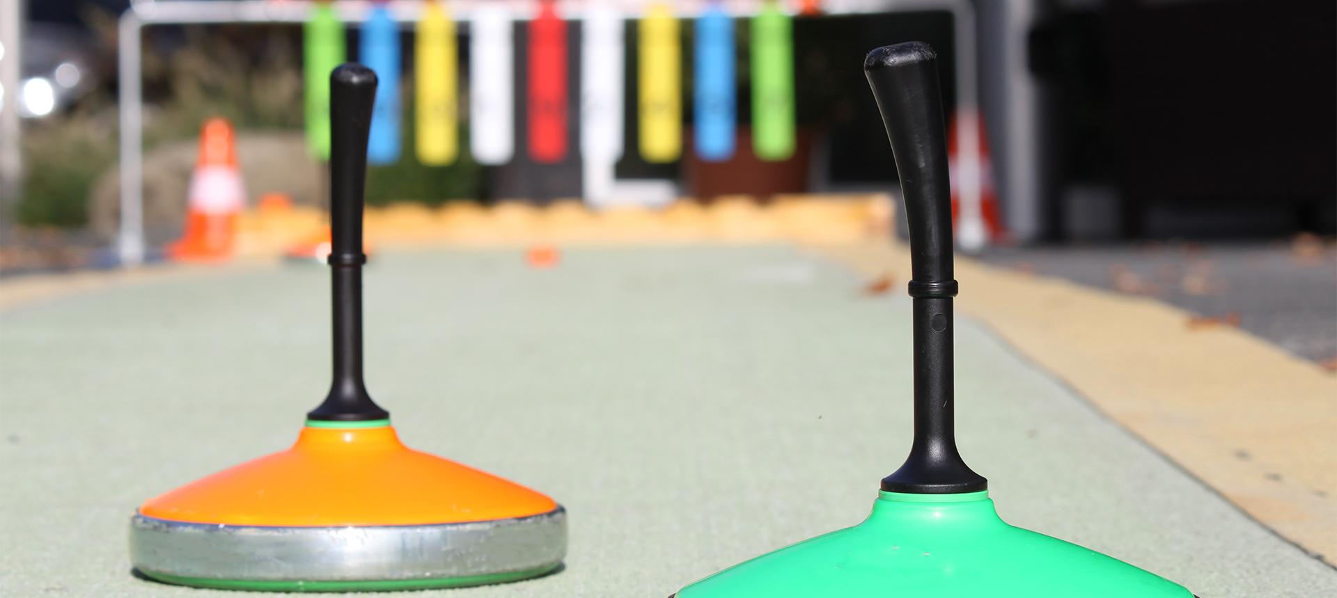 Curling auf der Obstwiese